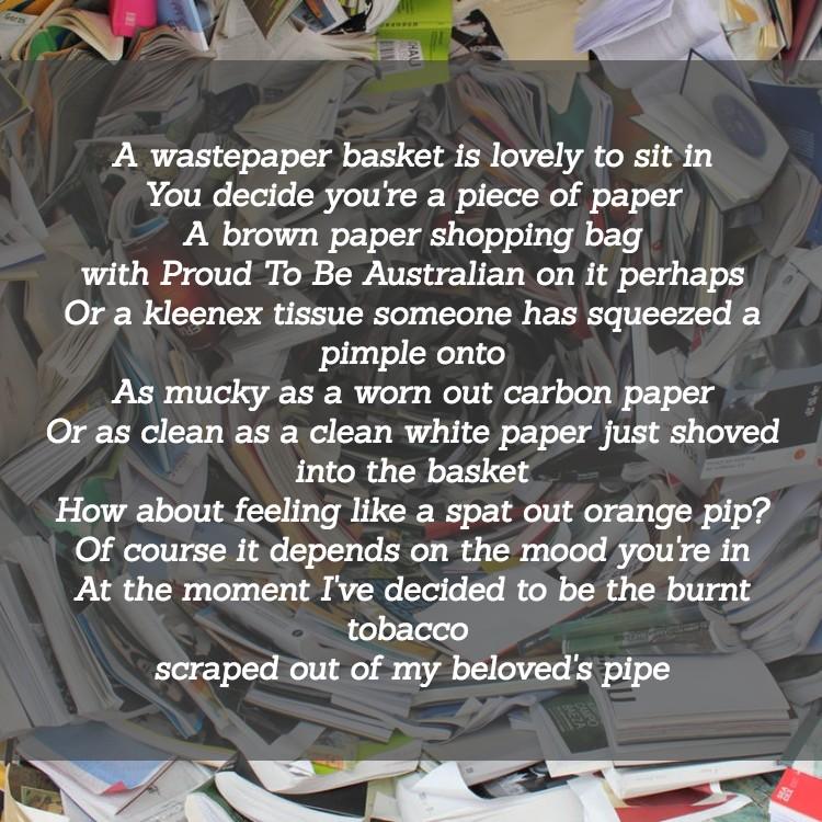 WastpaperBasketPoem